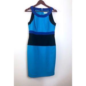 New Calvin Klein Sleeveless  Blue Dress Size 8